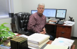 Darrell Ingram, the principal at desk - see About Us page for information on Darrell and others in Dallas CPA firm